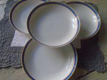 4 assiettes creuses