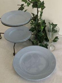 Assiettes plates et plat - Moulins des Loups