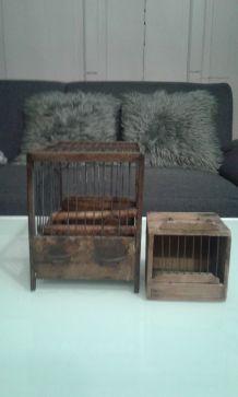 Cage en bois Art populaire