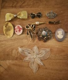 Lot broches vintage