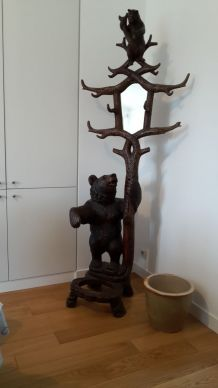 porte manteaux bois travail forêt noire 19ème