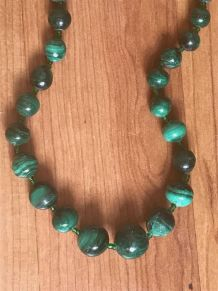 Collier en malachite