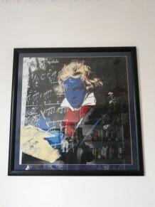 Affiche Beetoven Pop Art encadré