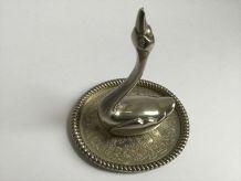 Porte bijoux en métal argenté