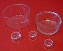 Verrerie de laboratoire : cristallisoir, pilulier