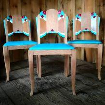 Chaises art déco x3