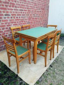 6 chaises formica années 50