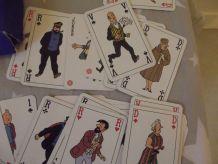 tintin .jeu de 106 cartes .personnages .