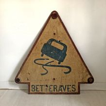 "Plaque en Tôle vintage 50's ""betteraves"""