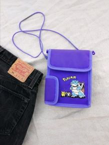 Sac pochette vintage Game Boy Pokémon Pikachu Tortank