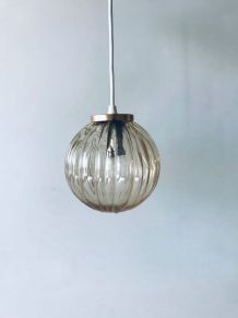 Suspension vintage boule en verre