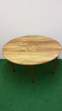 Table console demie lune en noyer