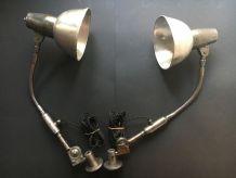 PAIRE LAMPES APPLIQUES INDUSTRIELLES ALLEMANDES
