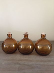 3 mini flacons ambrés