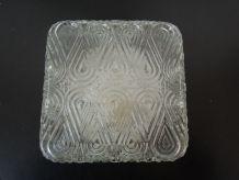 Plafonnier carré en verre vintage