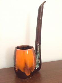 Vallauris forme de pipe haute : cendrier ou vase vintage