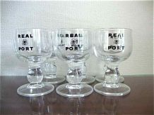 6 verres à porto en cristal
