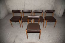 Paire de chaises scandinaves années 60