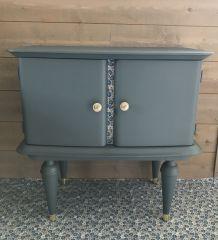 petit meuble vintage bleu canard