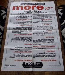 Grande affiche promotion film MORE 1969