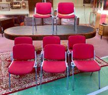 Suite de 8 chaises Castelli dans leur jus