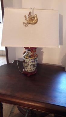 Pied de lampe céramique chinoise