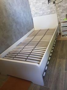 Ensemble lit enfant/adolescent 90x200 Ikea et lit tiroir