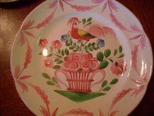 assiette coq au panier XIXe siècle
