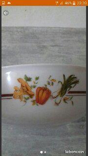 Saladier vintage motif légumes