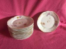 assiettes à dessert porcelaine