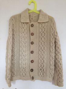 Gilet vintage en laine