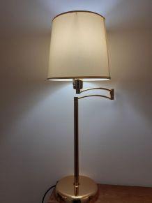 Lampe articulée dorée vintage
