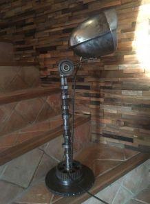 Lampe métal steampunk phare tracteur Style indus