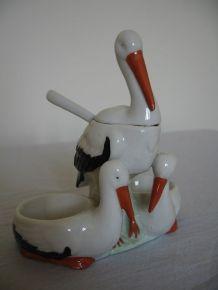 Saleron cigogne / Art de la table déco