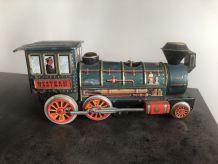 Ancienne locomotive en tôle des années 60