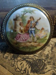 Broche ancienne Limoges