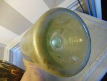 Bouteille bonbonne verre verte clair 2 litres