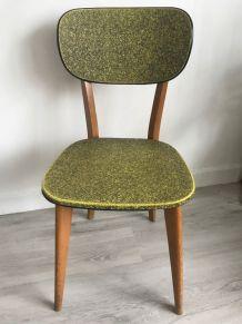 BELLE CHAISE VINTAGE Chaise en bois avec assise et dossier e