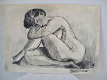 Tableau nu féminin années 60