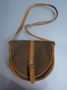 Yves Saint Laurent sac bandoulière toile cuir