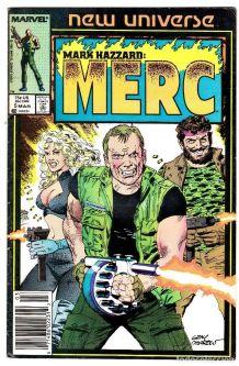Mark Hazzard Merc 5 Marvel New Universe 1986