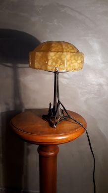 petite lampe art deco fer forge avec son