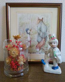 Petit Postier en porcelaine Vintage