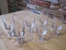 6 verres a vin   en cristal de bayer vintage 1970