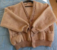 gilet en pure laine des pyrénées années 80