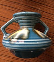 Superbe petit vase ancien vase art déco Largeur 15.5 cm