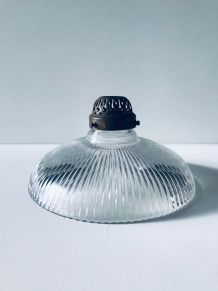 Globe luminaire ancien en verre