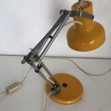 Lampe d'architecte Aluminor orpiment vintage 1960 - 35 cm