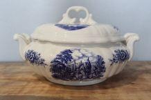 Ancienne soupière en porcelaine Moulin des Loups ORCHIES - 1