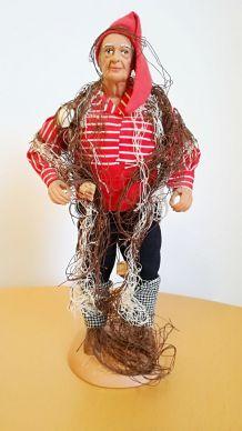 Ancien santon Le pêcheur estampillé Daniel SCATURRO